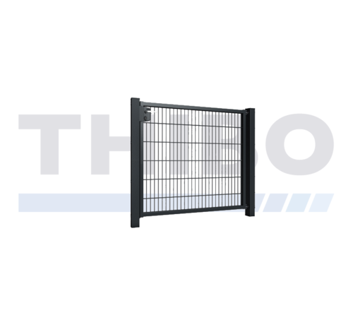 Thibo Single garden gate with double wire mesh, 8/6/8, 50x200 mm