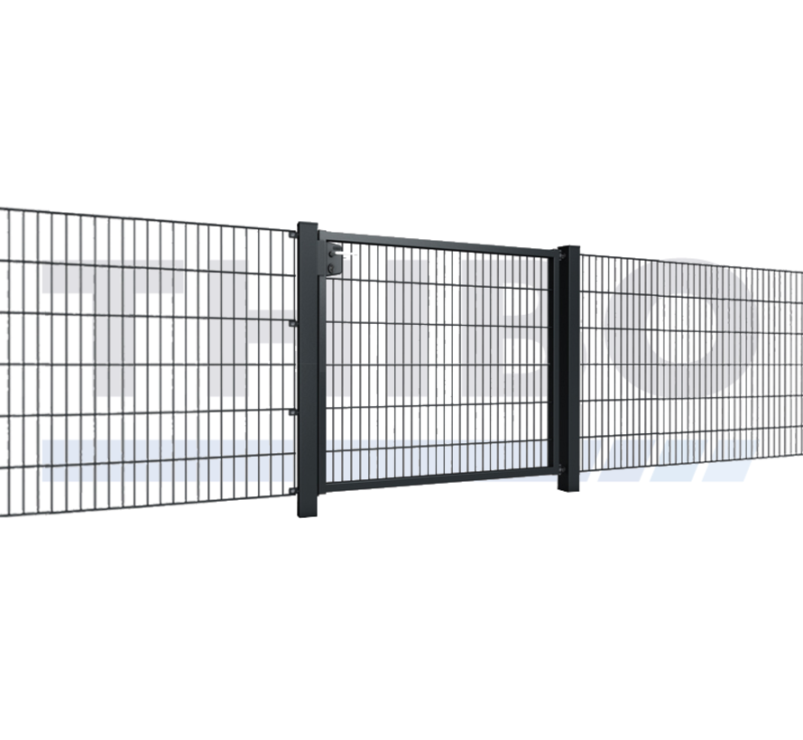 Single garden gate with double wire mesh, 8/6/8, 50x200 mm