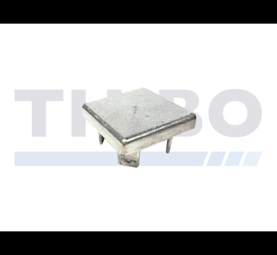 Aluminium paalkap 80 x 80 mm