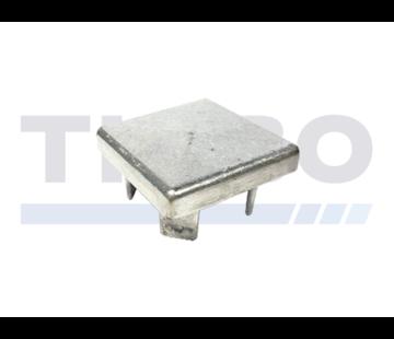 Aluminium paalkap 100 x 100 mm