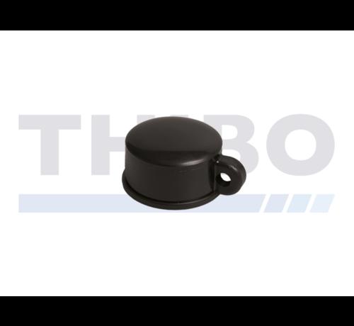 Thibo Kunststoff Abdeckkappen für Runde Rohrpfosten - mit Drahtöse