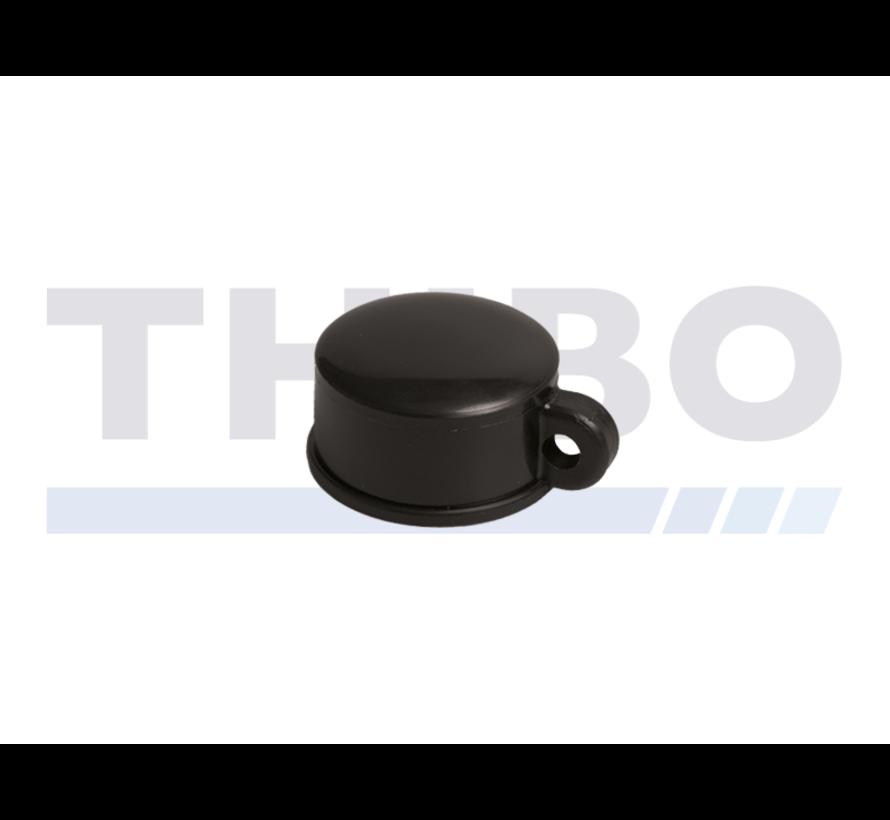 Kunststoff Abdeckkappen für Runde Rohrpfosten - mit Drahtöse