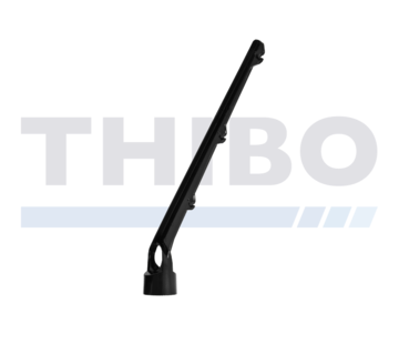 Thibo Barbed wire arms for 3 wires - Angled