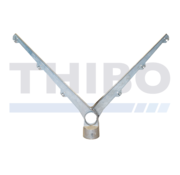Thibo Double barbed wire arm for 6 wires - Angled