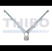 Thibo Dubbele puntdraadkop 6 draden - Schuin