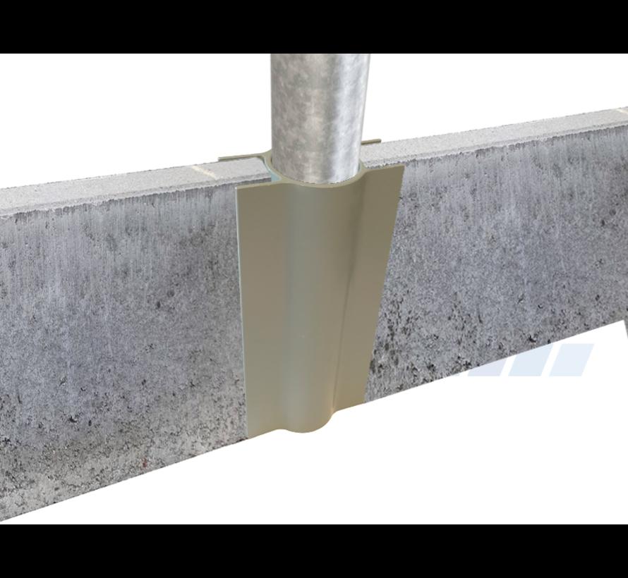 Bordsteinhalter für Ø48 / 60 mm Rohrpfosten