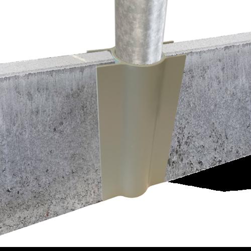 Concrete mowstrip holders