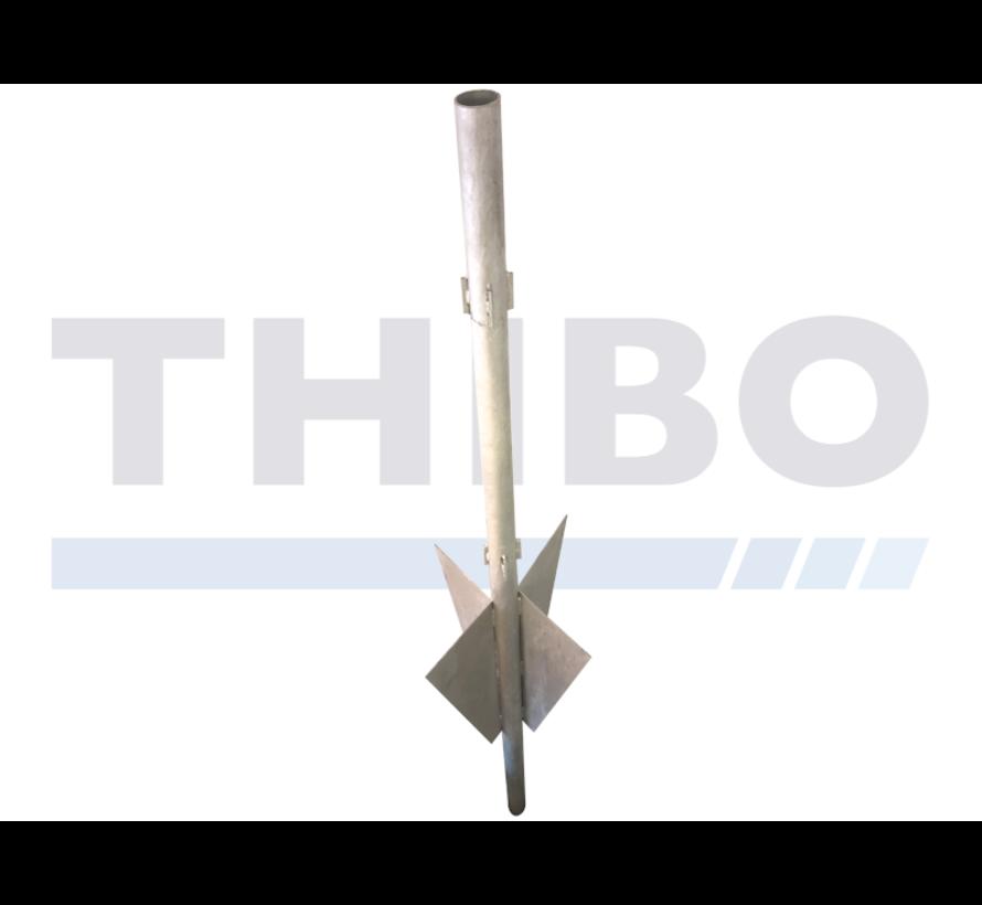 Ballenvangerdoorn ter grond-/ankerpaal voor Ø89 mm ballenvangerpalen