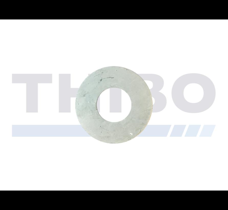 Mowing ring / pressure distribution ring