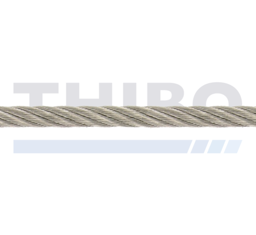 Thibo Staalkabel RVS 5 mm per meter