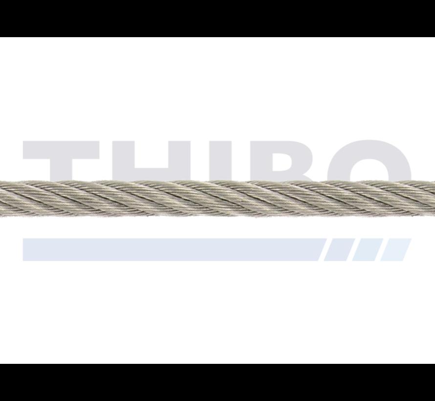 Câble acier inox 5 mm par mètre