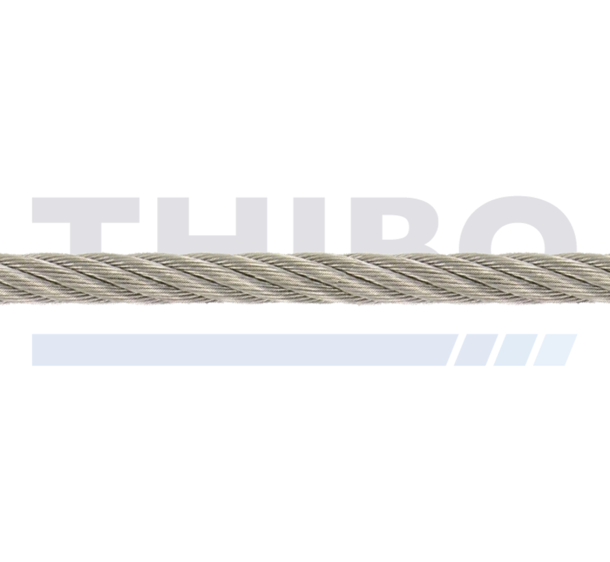 Stainless steel cable 5 mm per meter
