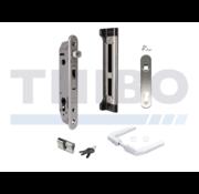 Kit avec serrure à encastrer et accesoiores pour portes en métal, PVC ou aluminium
