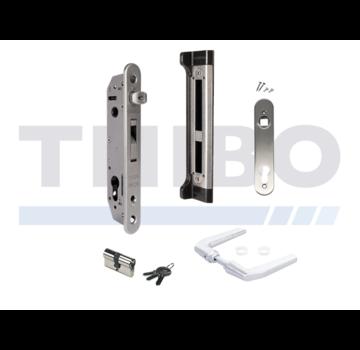 Locinox Kit avec serrure à encastrer et accesoiores pour portes en métal, PVC ou aluminium