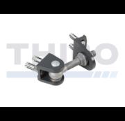 Locinox 180° Bolt-on 4D adjustable hinge