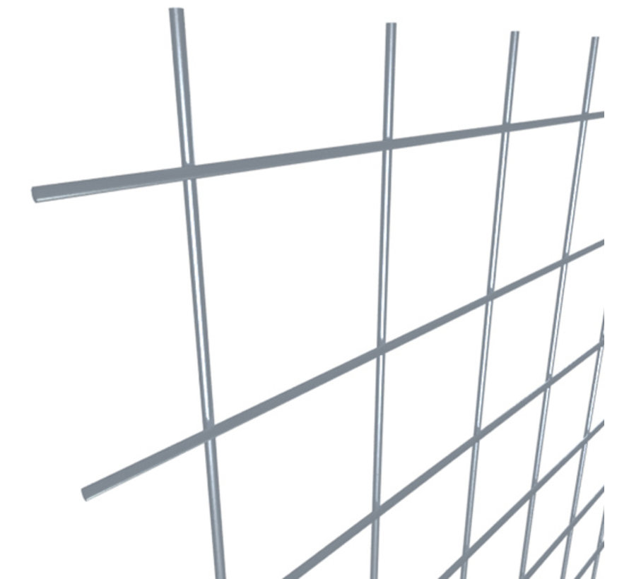Mesh panel 3000x1500 mm with mesh 50x50 mm, spot welded from bright wire 5,0 mm
