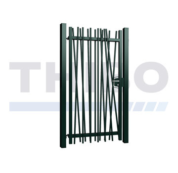 Thibo Single Mykadoo swing gate with round bars