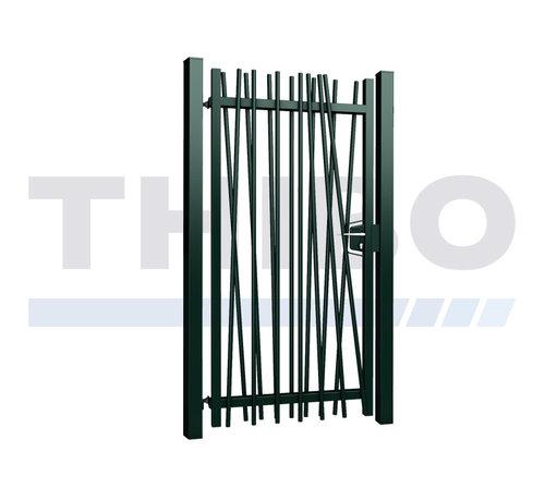 Thibo Single Mykadoo swing gate with round bars