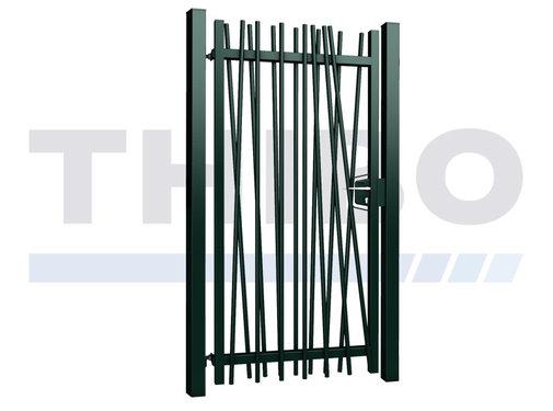 Single Mykadoo swing gate with round bars
