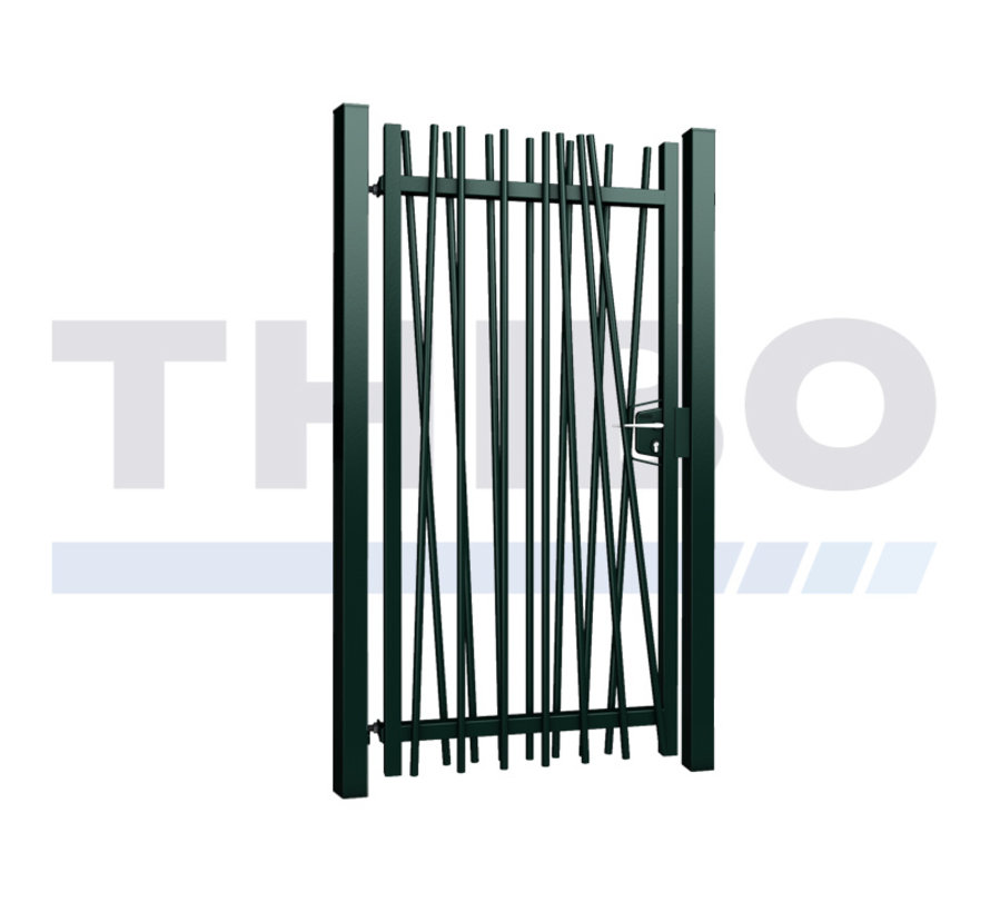 Single Mykadoo swing gate with round bars