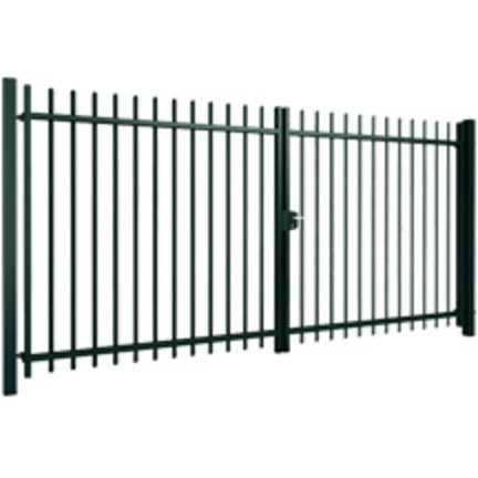 Industrial swing gates | bar of double wire mesh filling