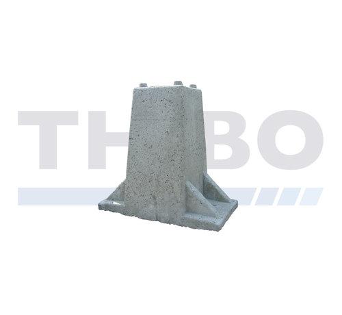 Thibo Block en béton haut pour poteau du portail sur platine