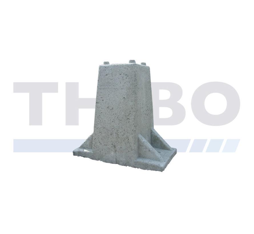 Betonnen poort-/fundatieblok voor poortpaal op voetplaat