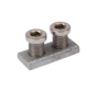 Claw nut and bolts for 4D hinges