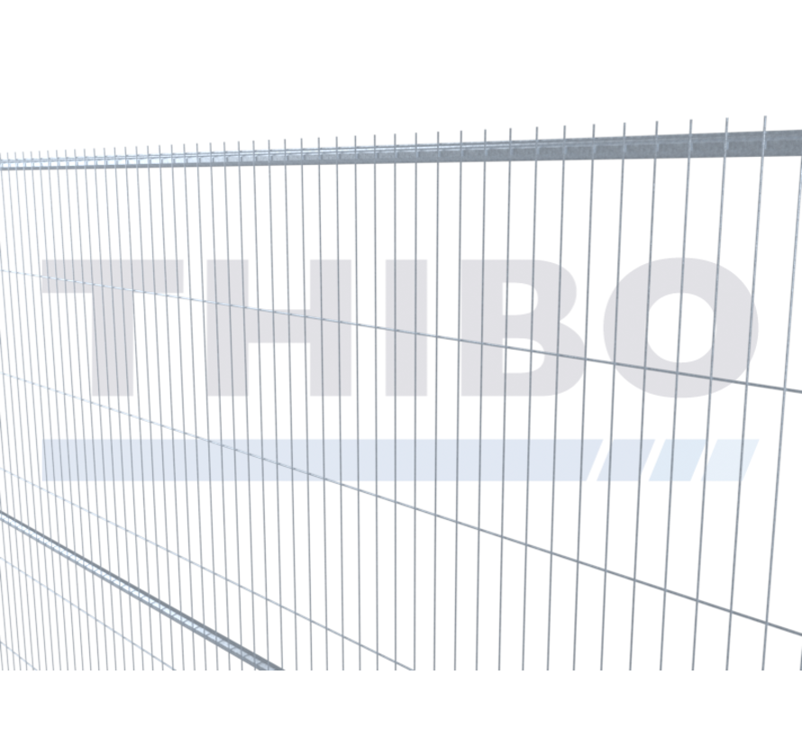 Galvanized mobile fence - 2,5 meters high, type Apollo 13, with horizontal center tube