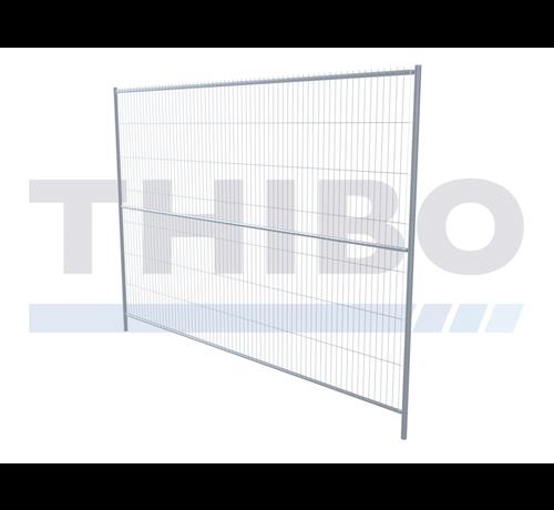 Thibo Galvanized mobile fence - 2,5 meters high, type Apollo 13, with horizontal center tube