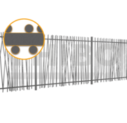 Thibo Bar fencing with round bars type Mykadoo - Copy