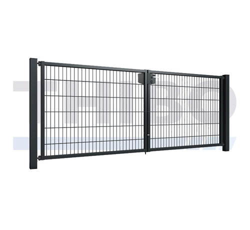 Thibo Double garden gate with double wire mesh, 8/6/8, 50x200 mm