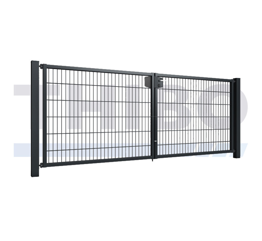Double garden gate with double wire mesh, 8/6/8, 50x200 mm