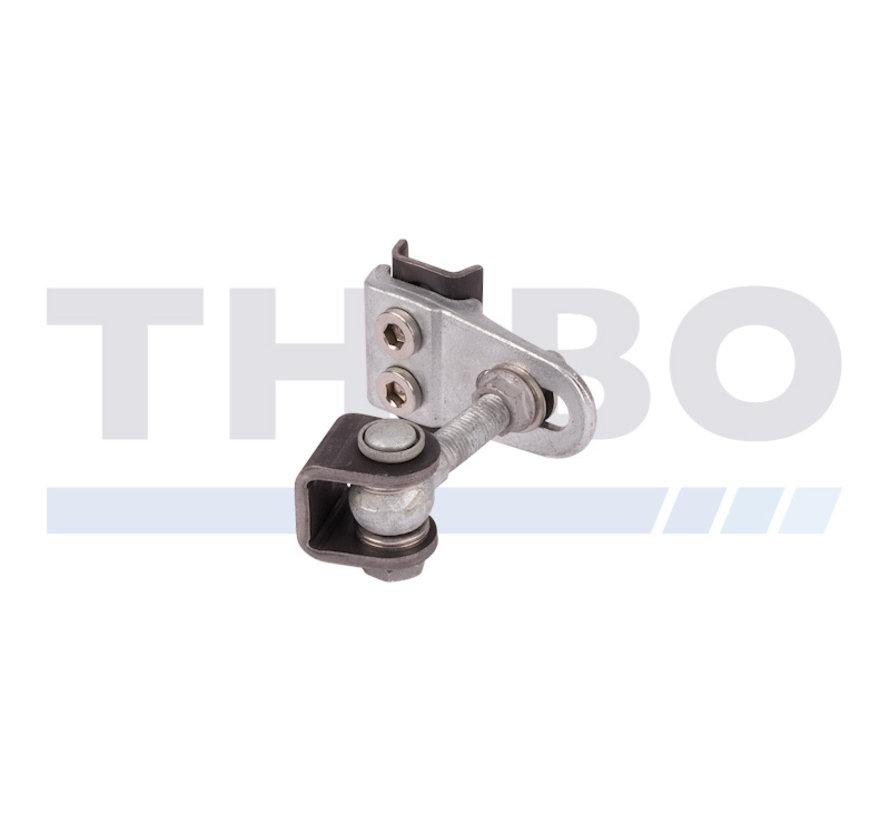 180° weld-on 4D adjustable hinge