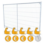 Industrial mobile fences