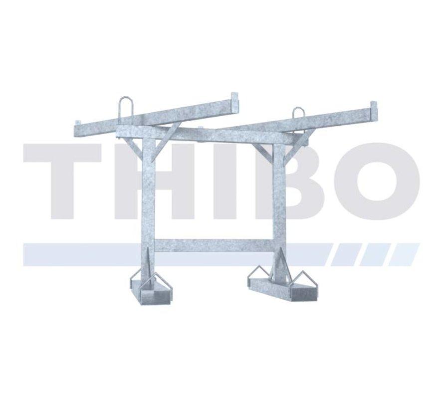 Transportation rack for crush barrier