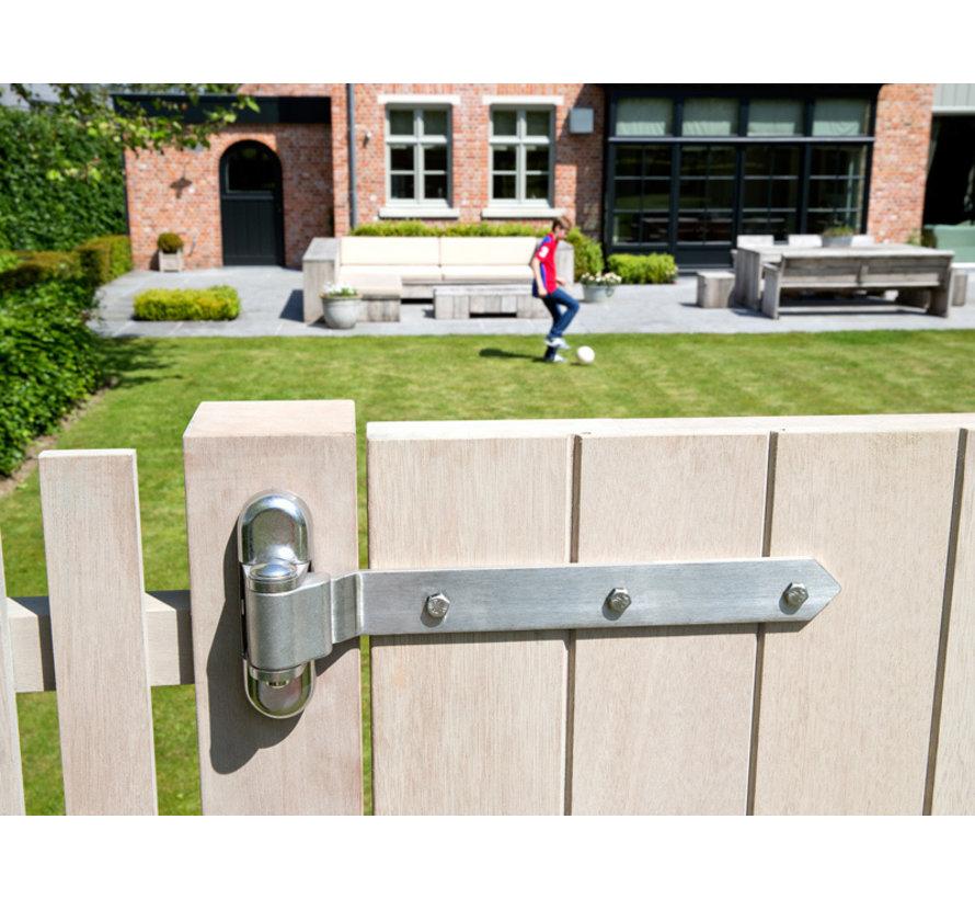 180° 3-way adjustment hinge for wooden gates