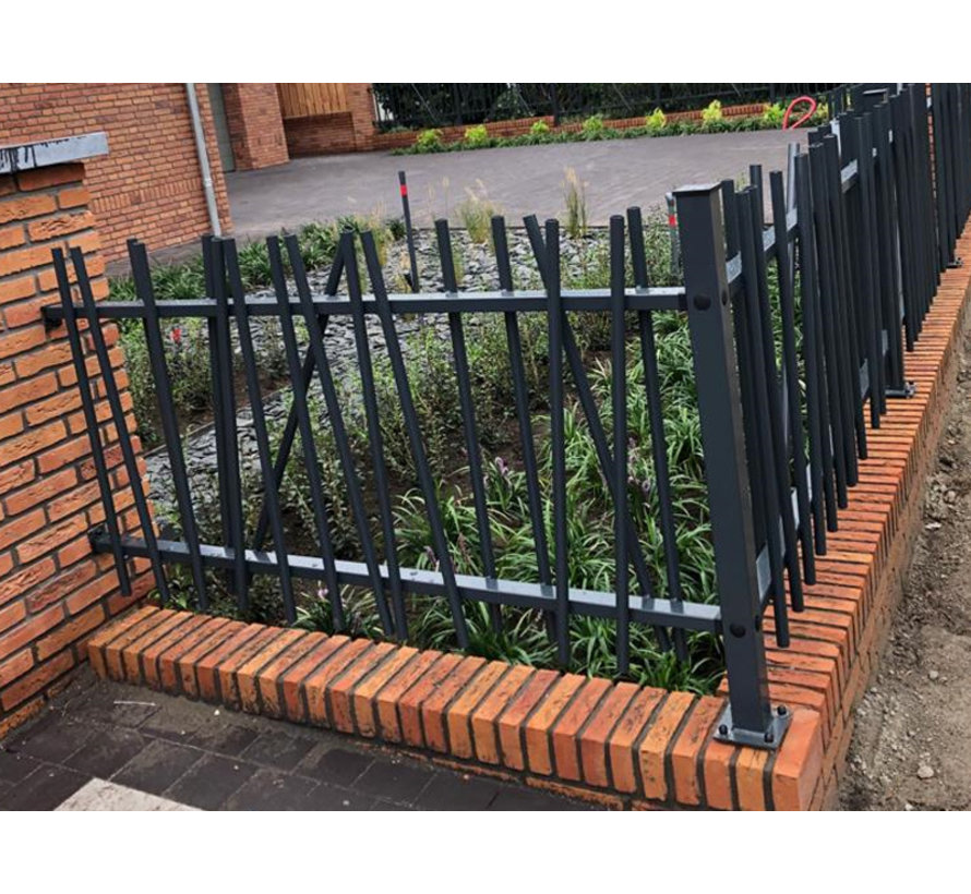 Bar fencing with round bars type Mykadoo per meter
