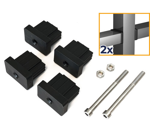 Thibo Post connection sets for bar fencing