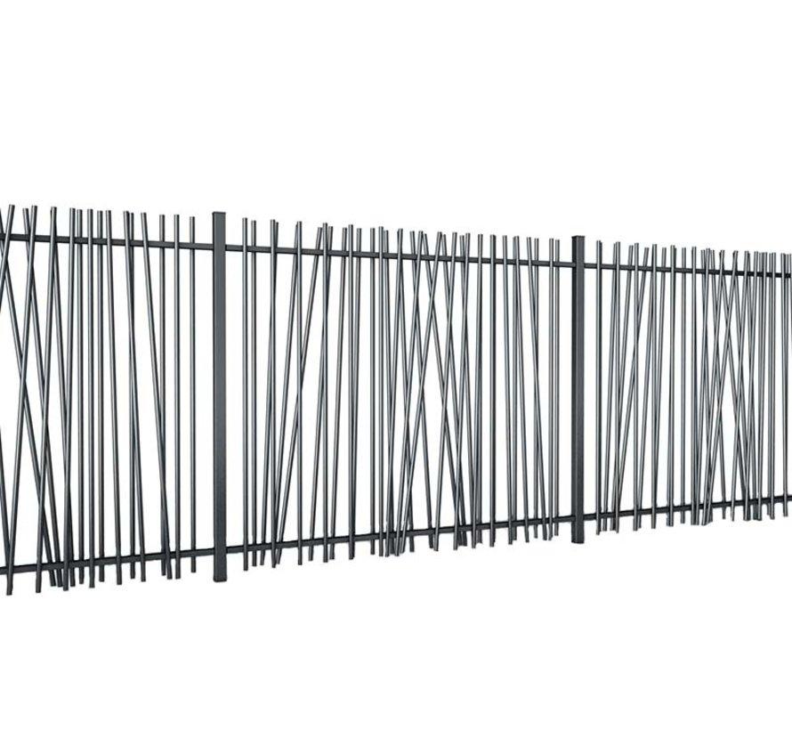 Spijlenhekwerk met ronde spijlen type Mykadoo per meter