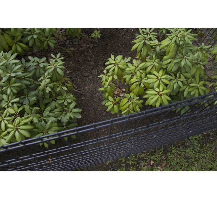 Double wire mesh fencing set per meter