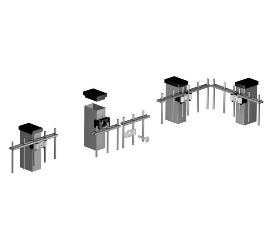 Staander 60 x 40 Minerva Pro met voorgemonteerde montageblokjes - Verzinkt