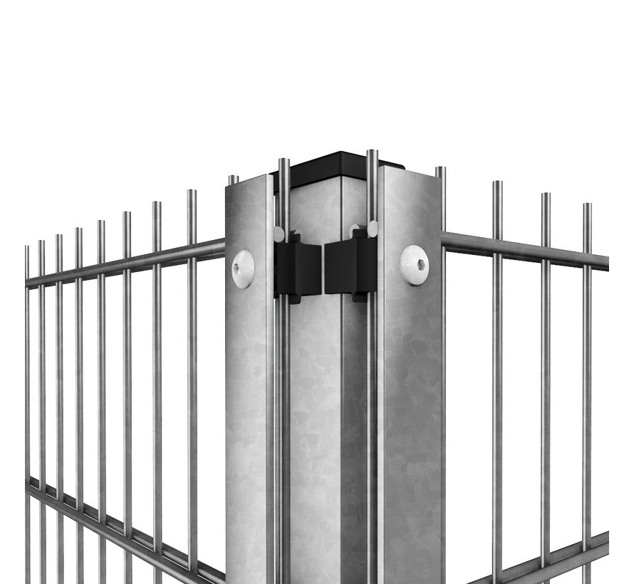 Post Minerva Pro 60 x 40 with cover strip - Galvanized