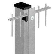 Thibo Post 60 x 40 with cover strip - Galvanized