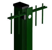 Thibo Post 60 x 40 with cover strip - Powder coated
