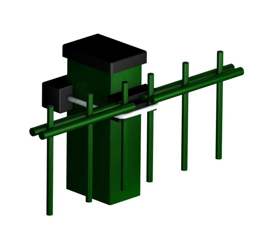 U-bolt clamp for (double) wire panel fence