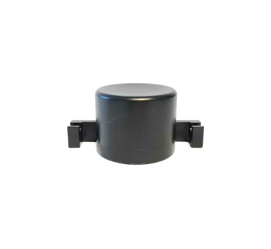 Plastic post cap Ø60 with mounting hooks