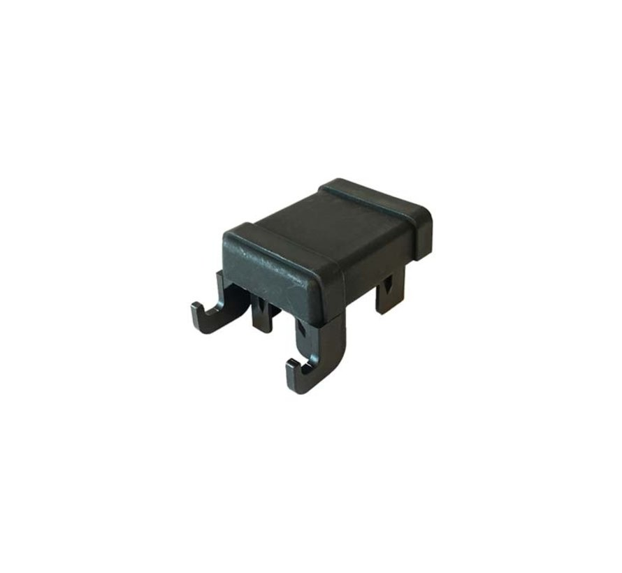 Plastic post cap 60x40 / 60x60 with mounting hooks