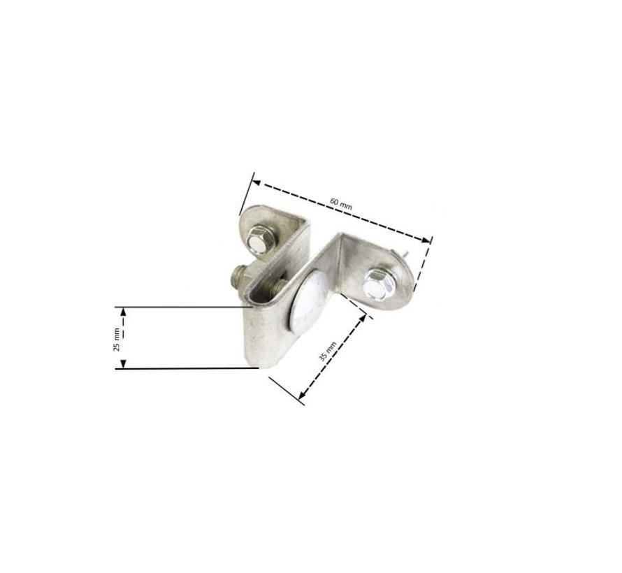 Muur-/paalbeugel voor staalmathekwerk