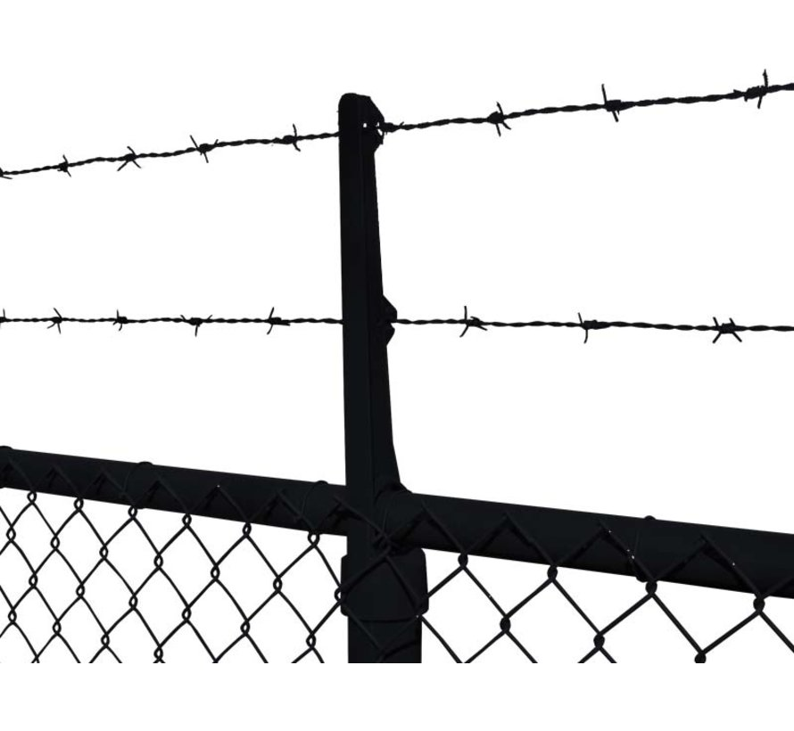 Barbed wire arms for 2 wires - Straight
